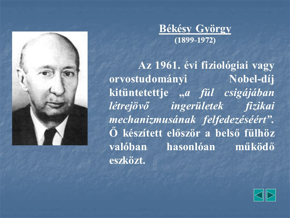 Békésy György (1899-1972)