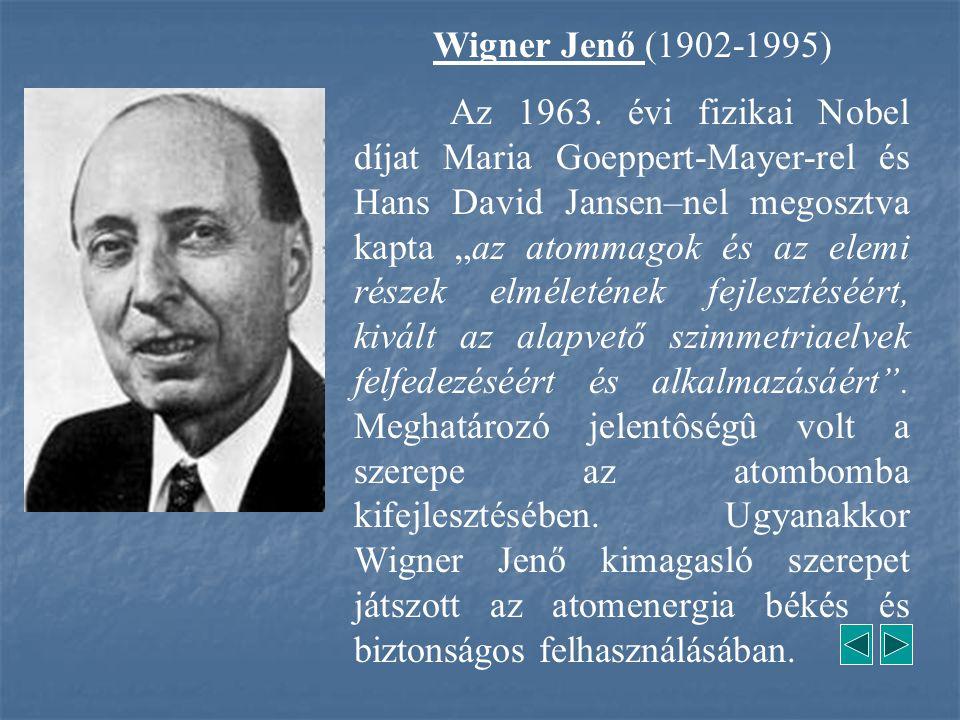 Wigner Jenő (1902-1995)