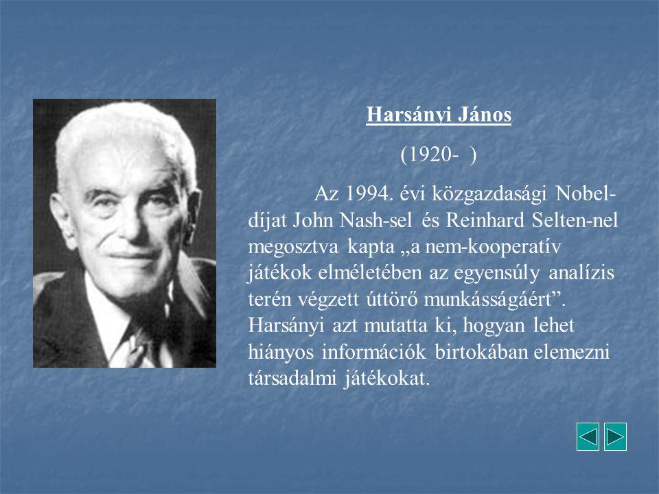 Harsányi János (1920- )