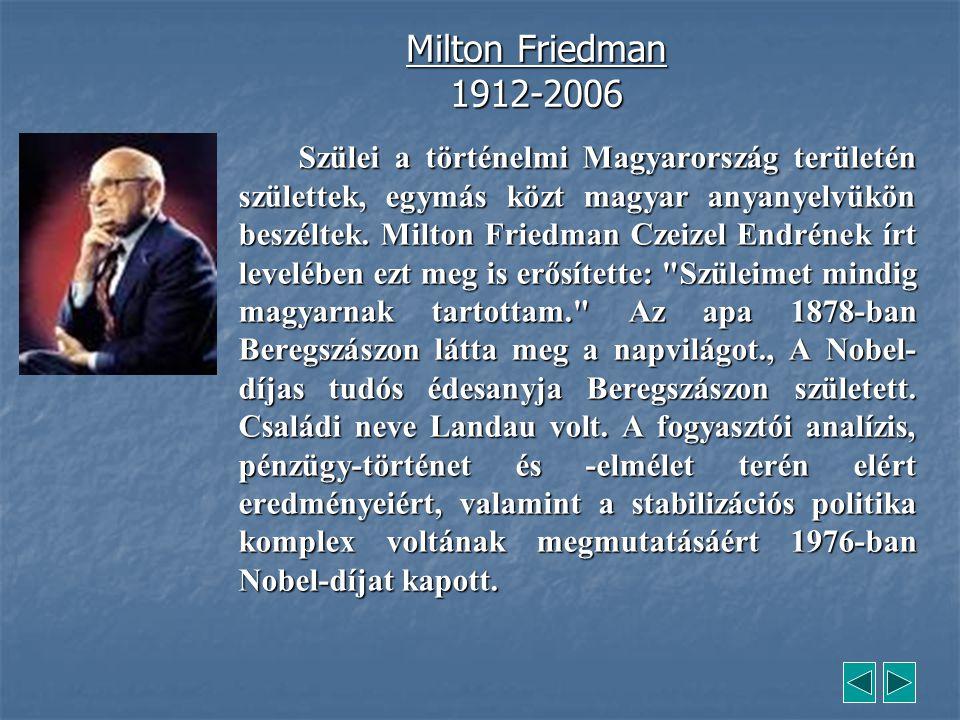 Milton Friedman 1912-2006