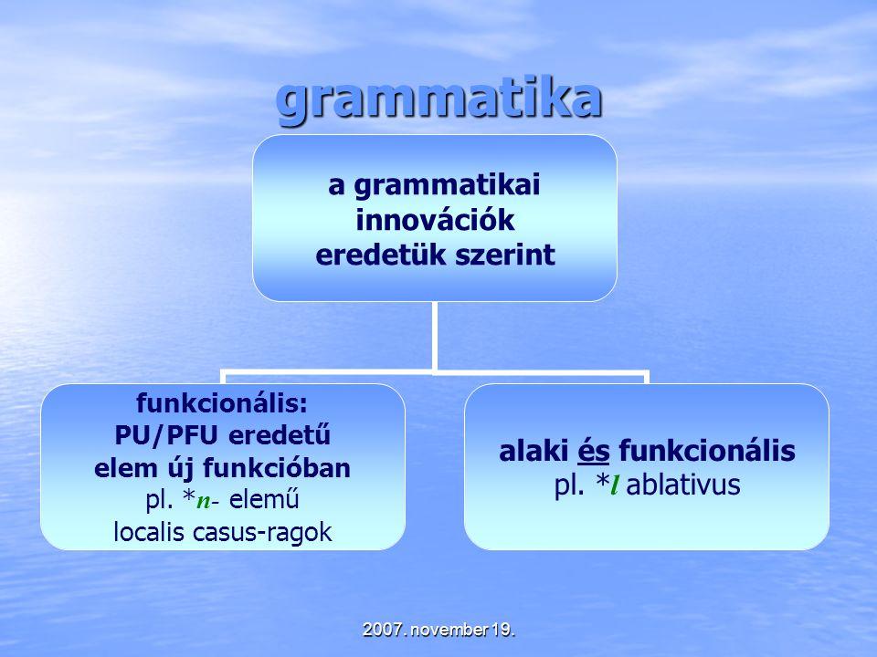 grammatika 2007. november 19.