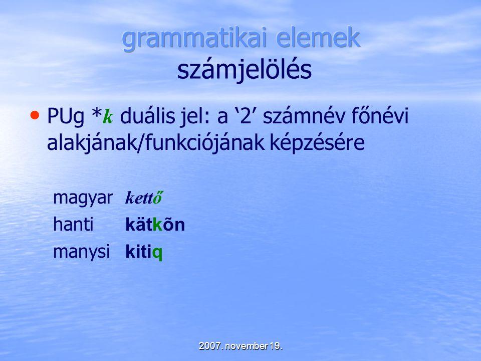grammatikai elemek számjelölés