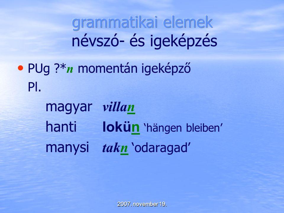 grammatikai elemek névszó- és igeképzés