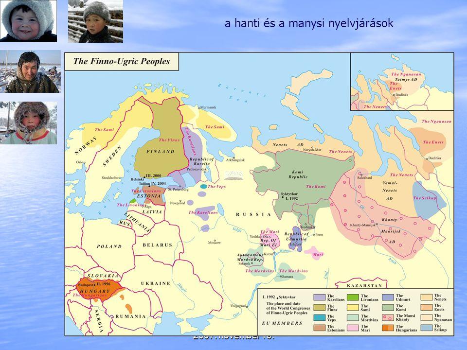 a hanti és a manysi nyelvjárások