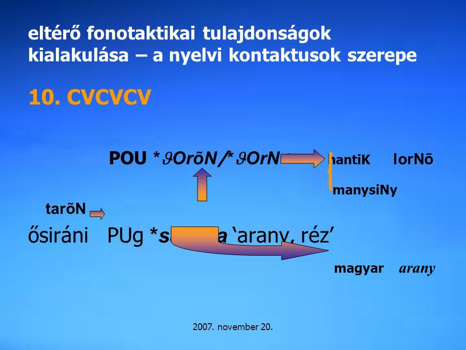 ősiráni PUg *saraNa 'arany, réz' magyar arany