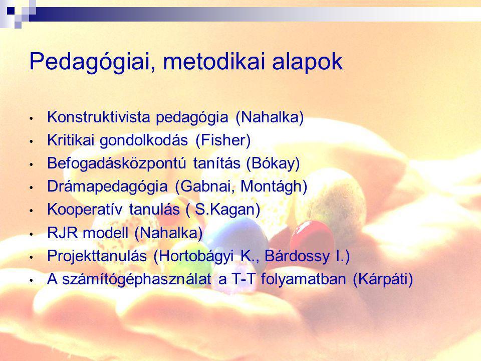 Pedagógiai, metodikai alapok