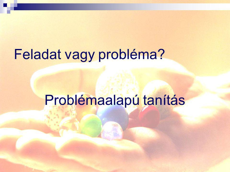 Problémaalapú tanítás