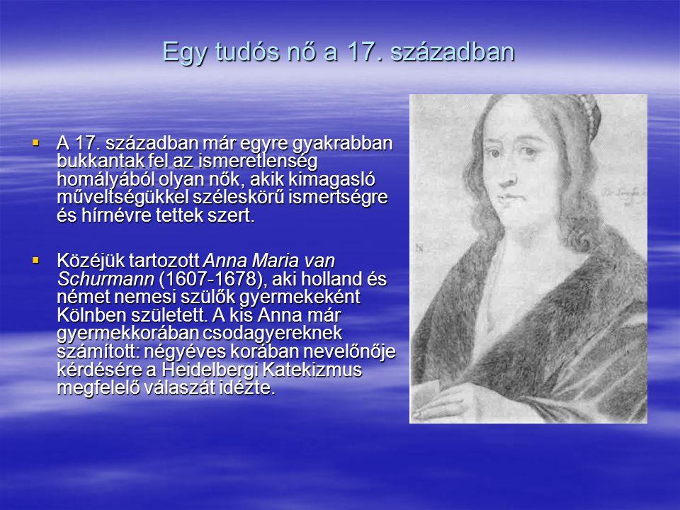 Egy tudós nő a 17. században