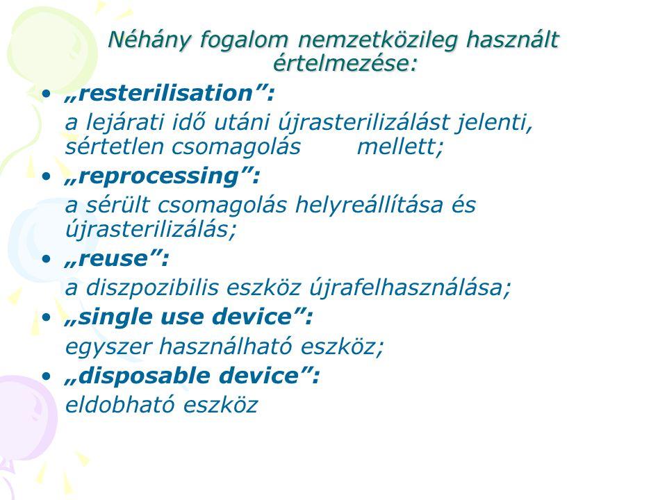 Néhány fogalom nemzetközileg használt értelmezése: