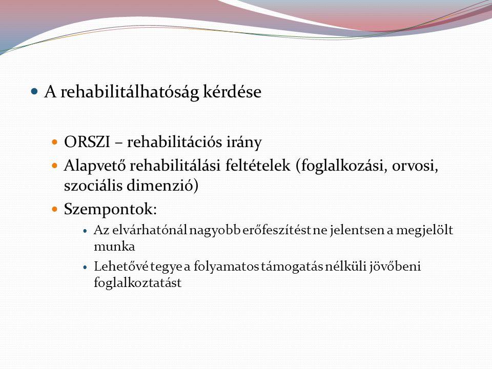 A rehabilitálhatóság kérdése