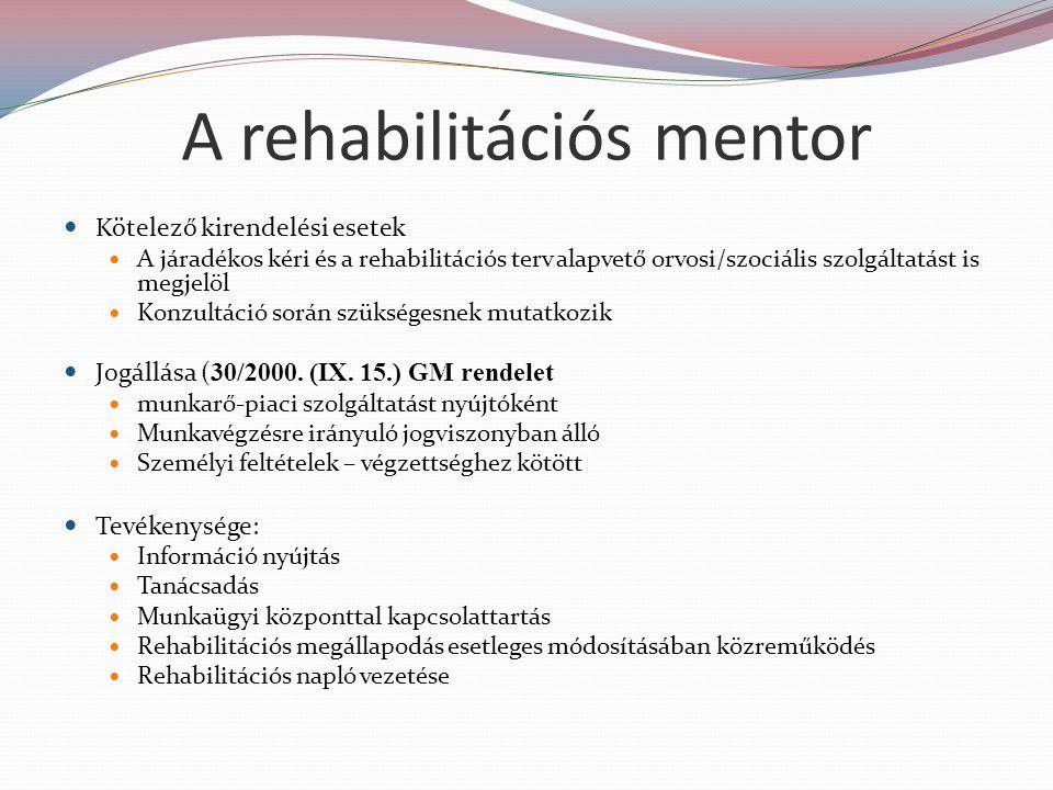 A rehabilitációs mentor
