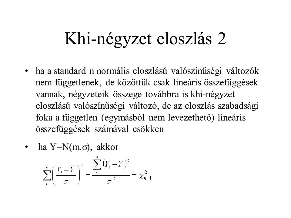 Khi-négyzet eloszlás 2