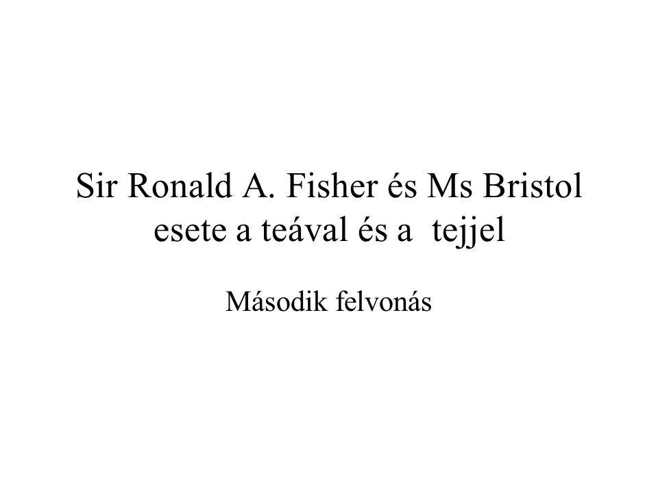Sir Ronald A. Fisher és Ms Bristol esete a teával és a tejjel