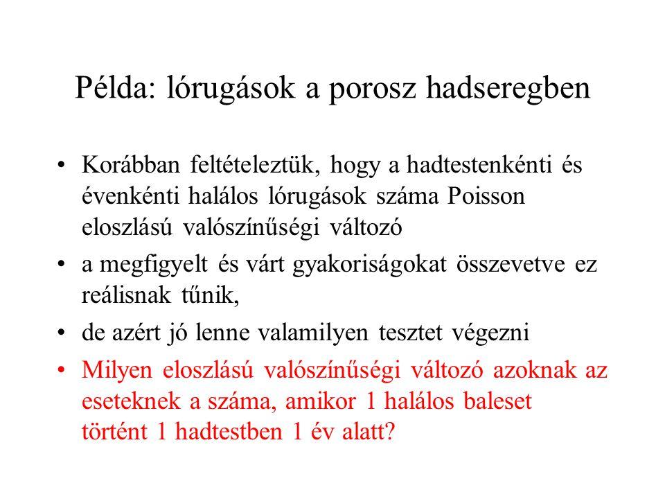 Példa: lórugások a porosz hadseregben