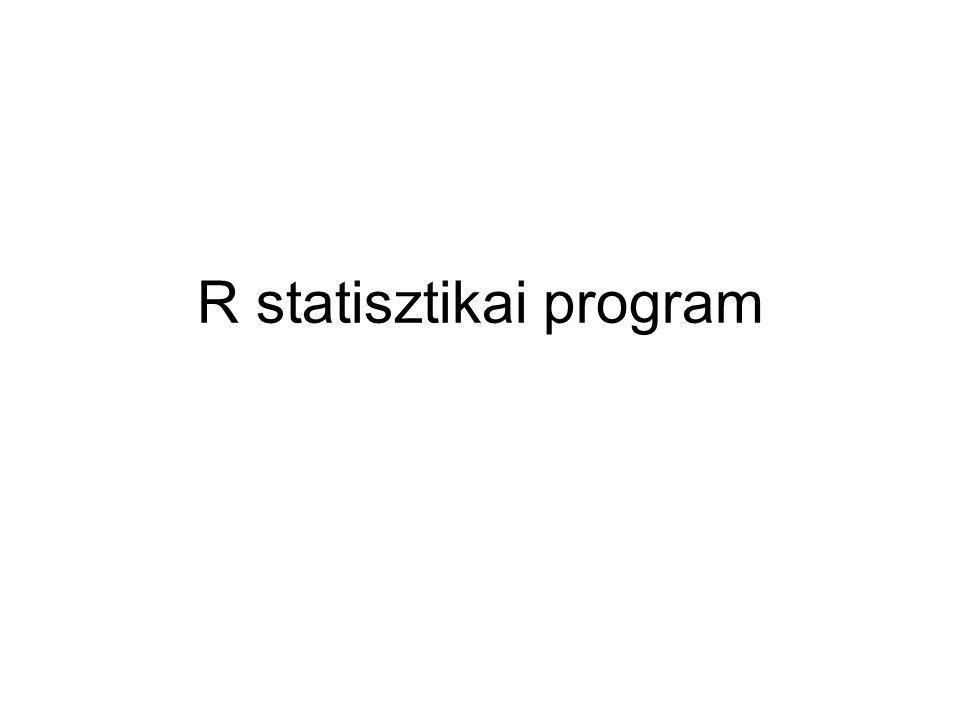 R statisztikai program