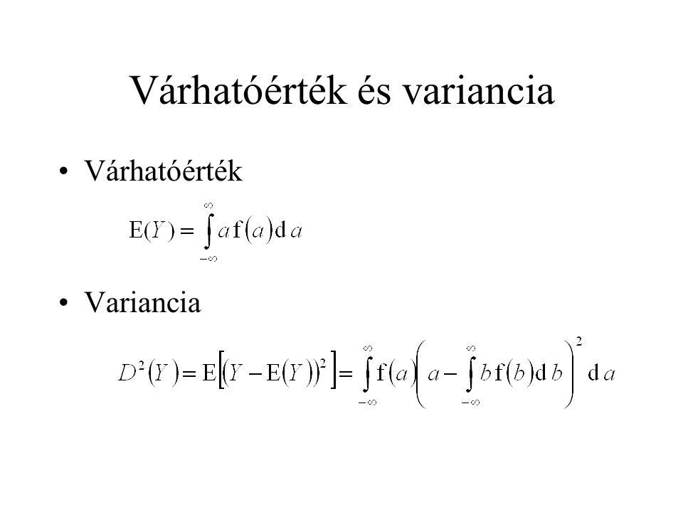 Várhatóérték és variancia