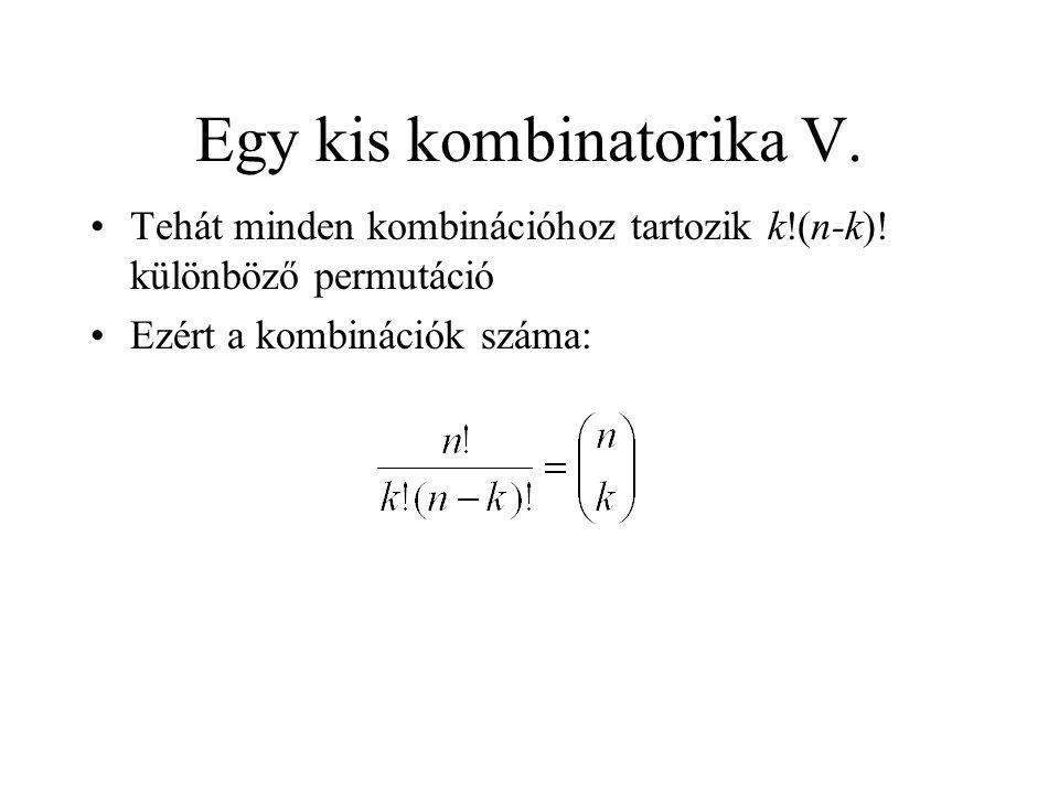 Egy kis kombinatorika V.
