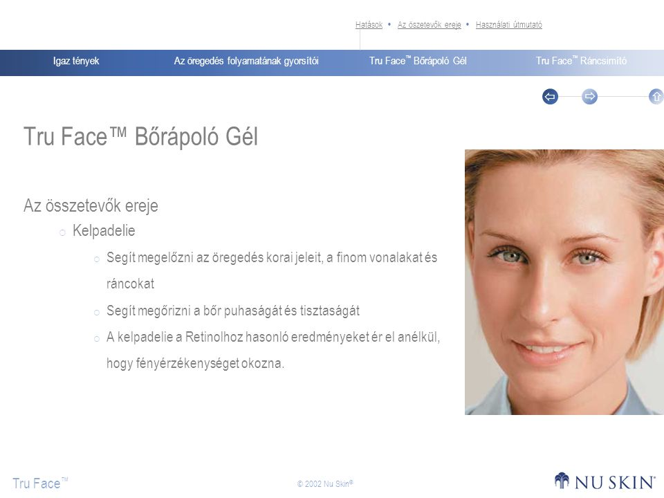 Tru Face™ Bőrápoló Gél Az összetevők ereje Kelpadelie