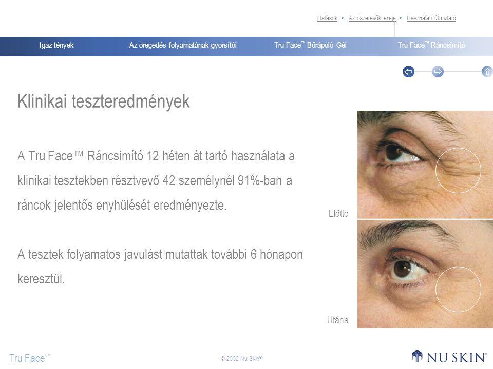 Klinikai teszteredmények