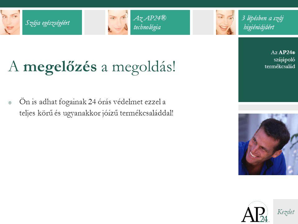 A megelőzés a megoldás! Az AP24® szájápoló termékcsalád.