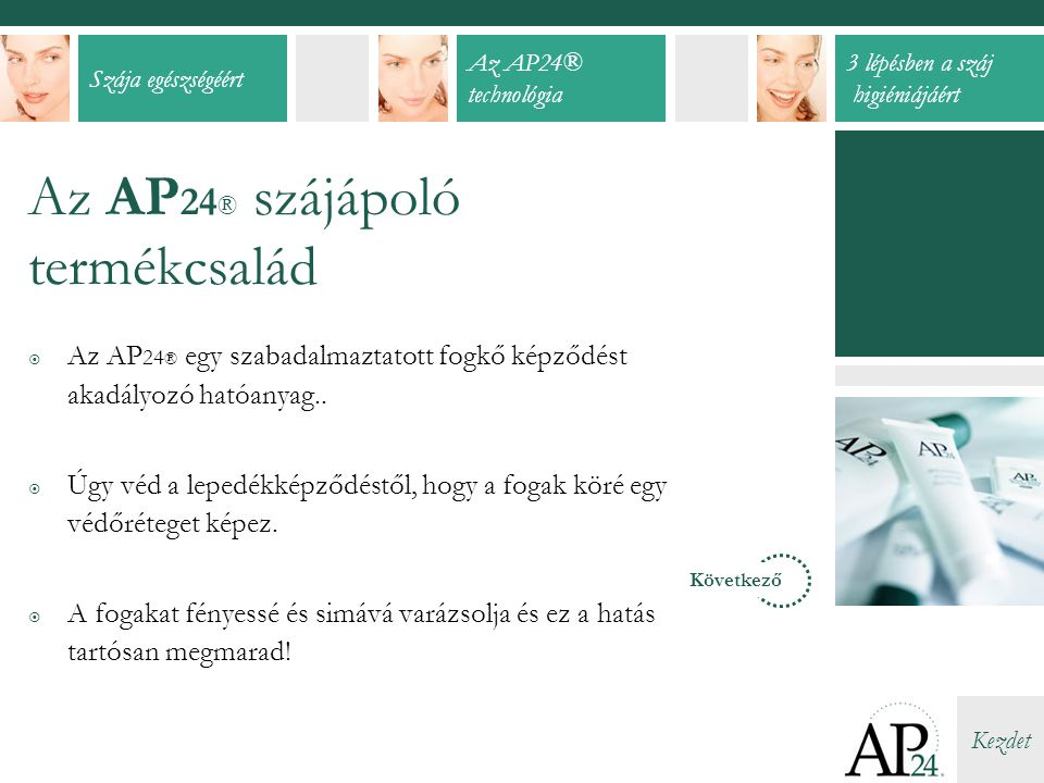Az AP24® szájápoló termékcsalád