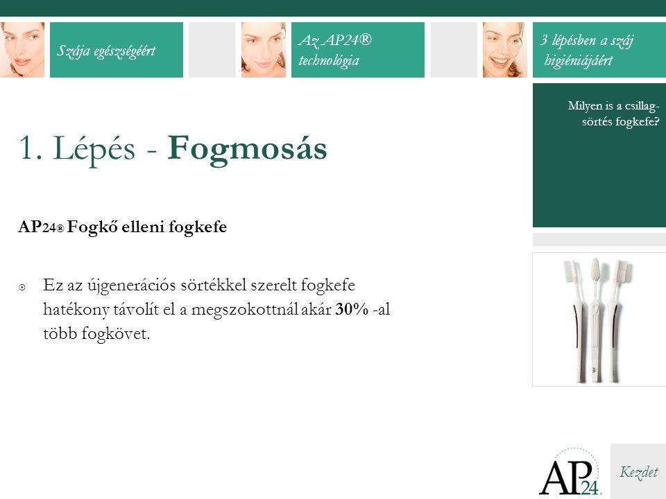 1. Lépés - Fogmosás AP24® Fogkő elleni fogkefe