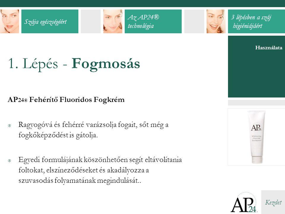 1. Lépés - Fogmosás AP24® Fehérítő Fluoridos Fogkrém