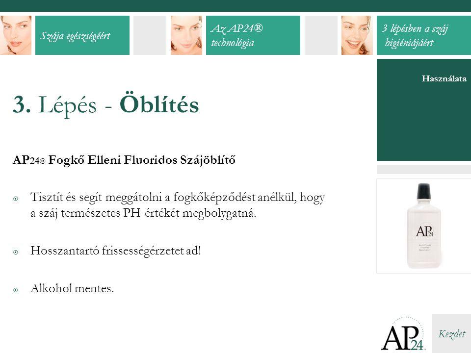 3. Lépés - Öblítés AP24® Fogkő Elleni Fluoridos Szájöblítő