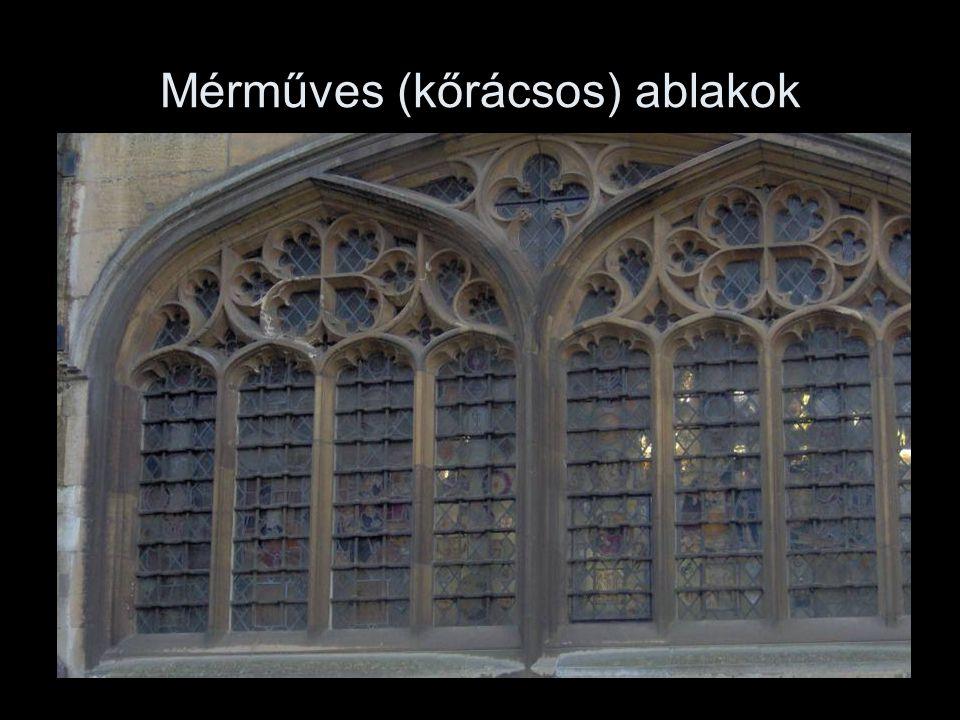 Mérműves (kőrácsos) ablakok
