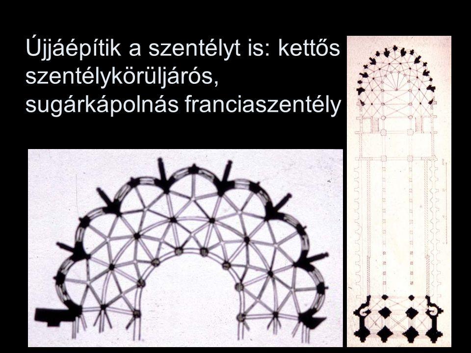 Újjáépítik a szentélyt is: kettős szentélykörüljárós, sugárkápolnás franciaszentély