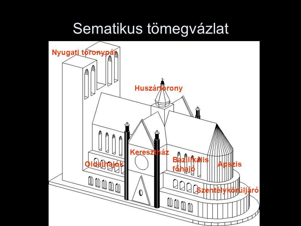 Sematikus tömegvázlat