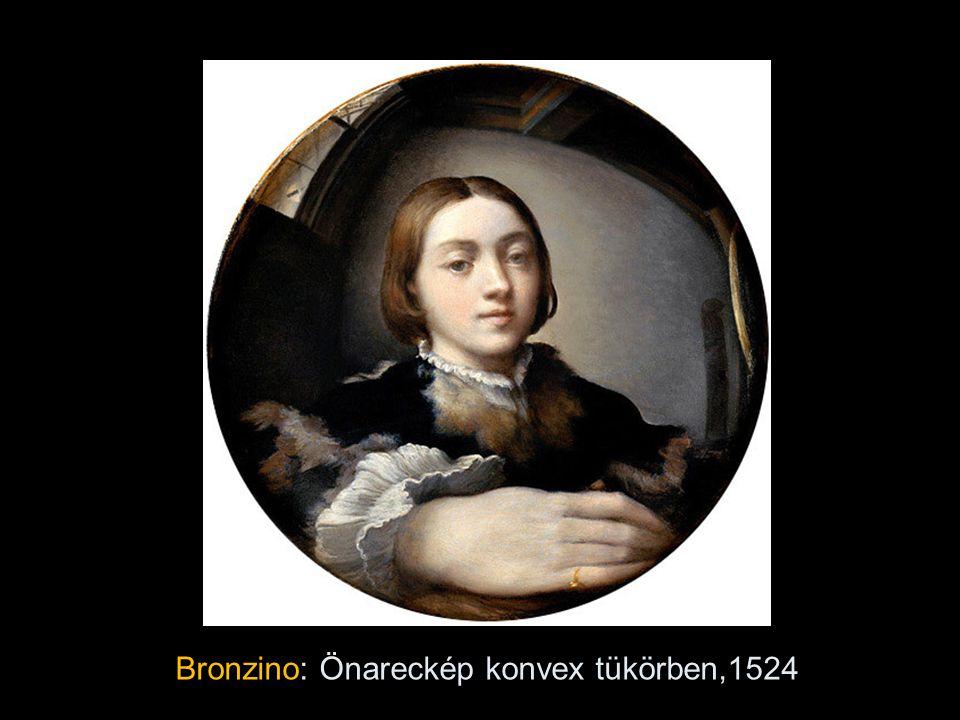 Bronzino: Önareckép konvex tükörben,1524