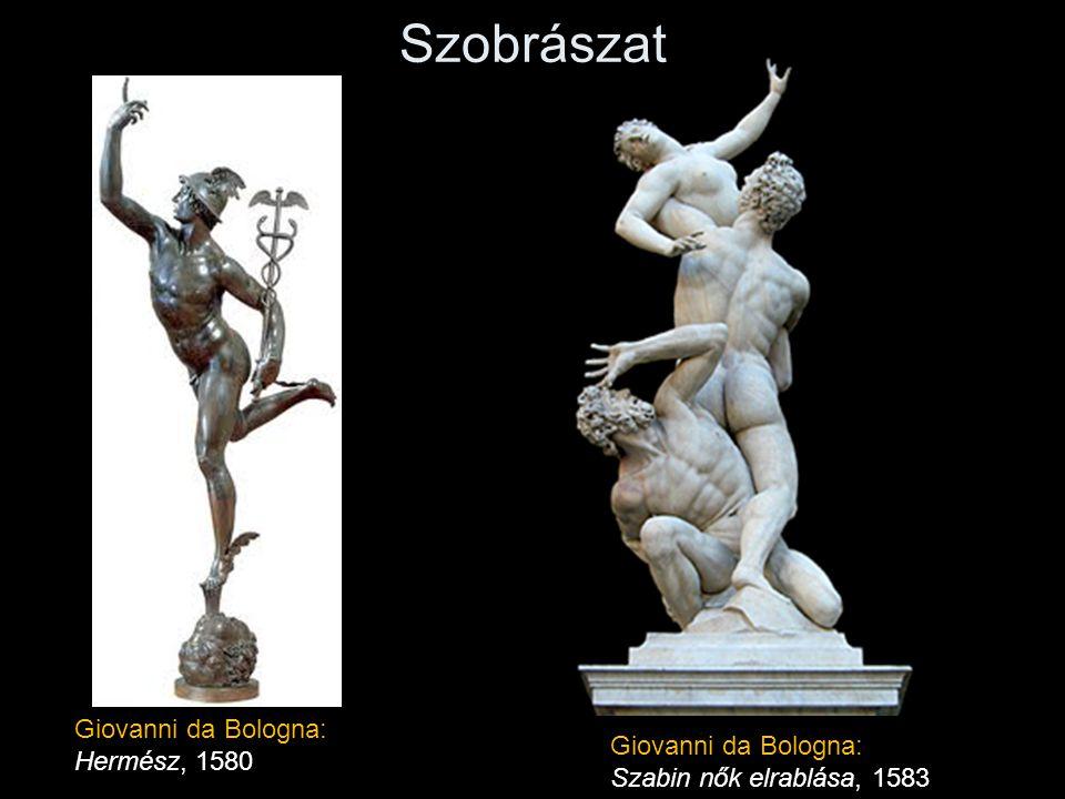 Szobrászat Giovanni da Bologna: Hermész, 1580 Giovanni da Bologna: