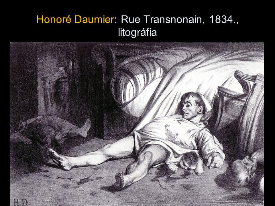 Honoré Daumier: Rue Transnonain, 1834., litográfia