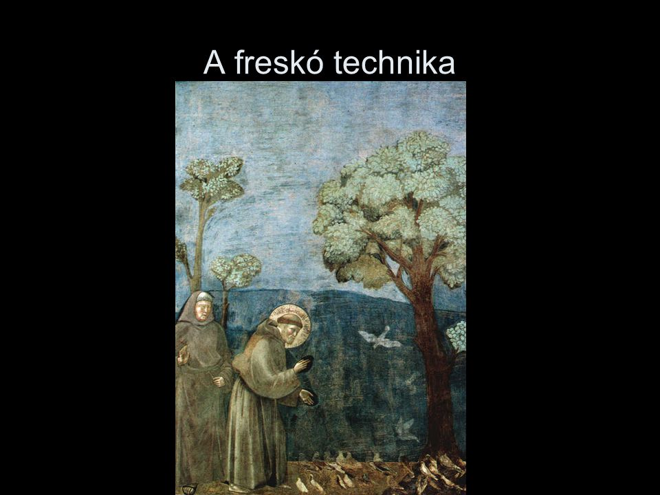 A freskó technika