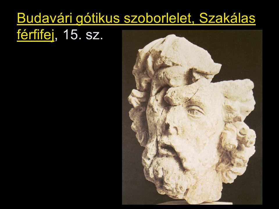 Budavári gótikus szoborlelet, Szakálas férfifej, 15. sz.