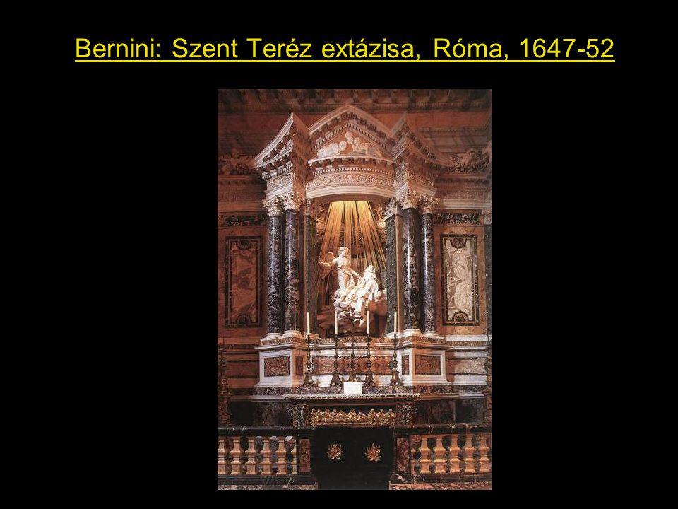 Bernini: Szent Teréz extázisa, Róma, 1647-52
