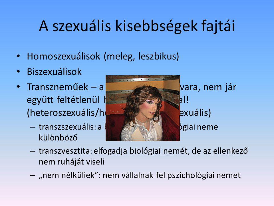 A szexuális kisebbségek fajtái
