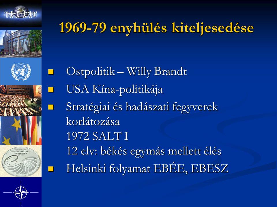 1969-79 enyhülés kiteljesedése