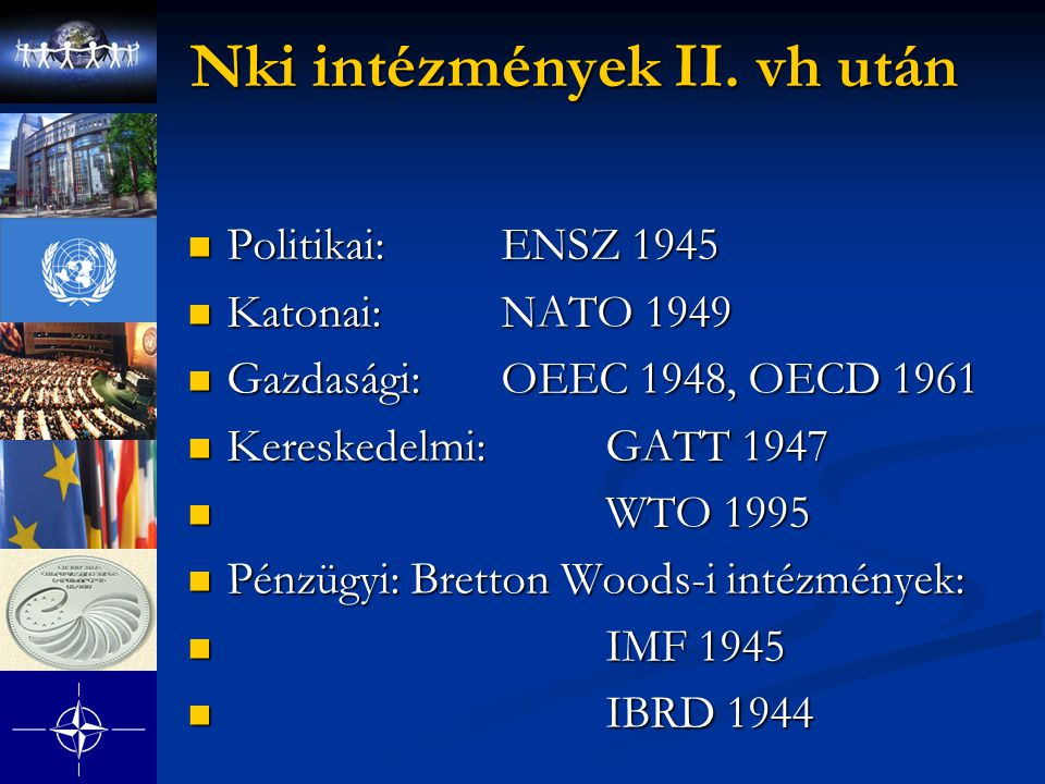 Nki intézmények II. vh után