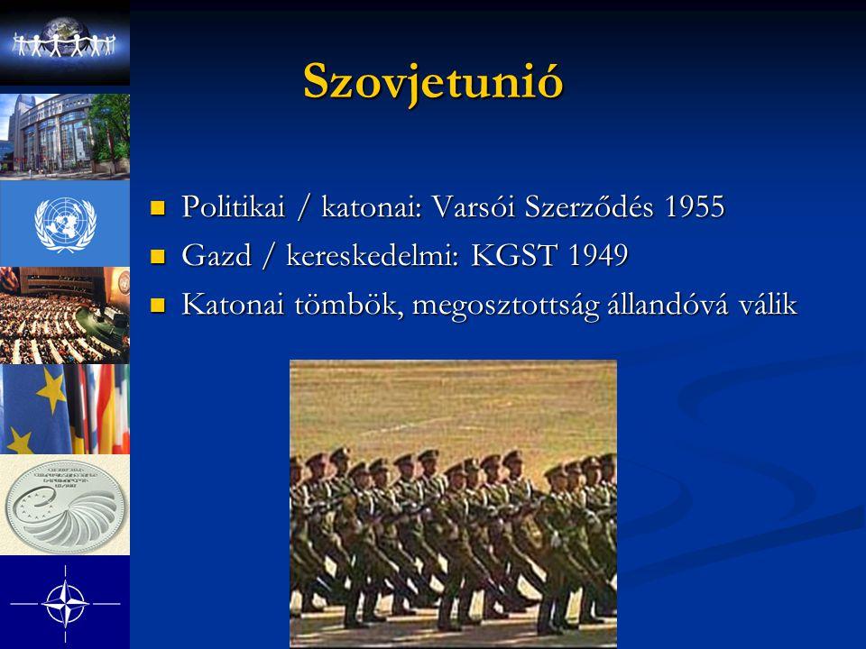 Szovjetunió Politikai / katonai: Varsói Szerződés 1955