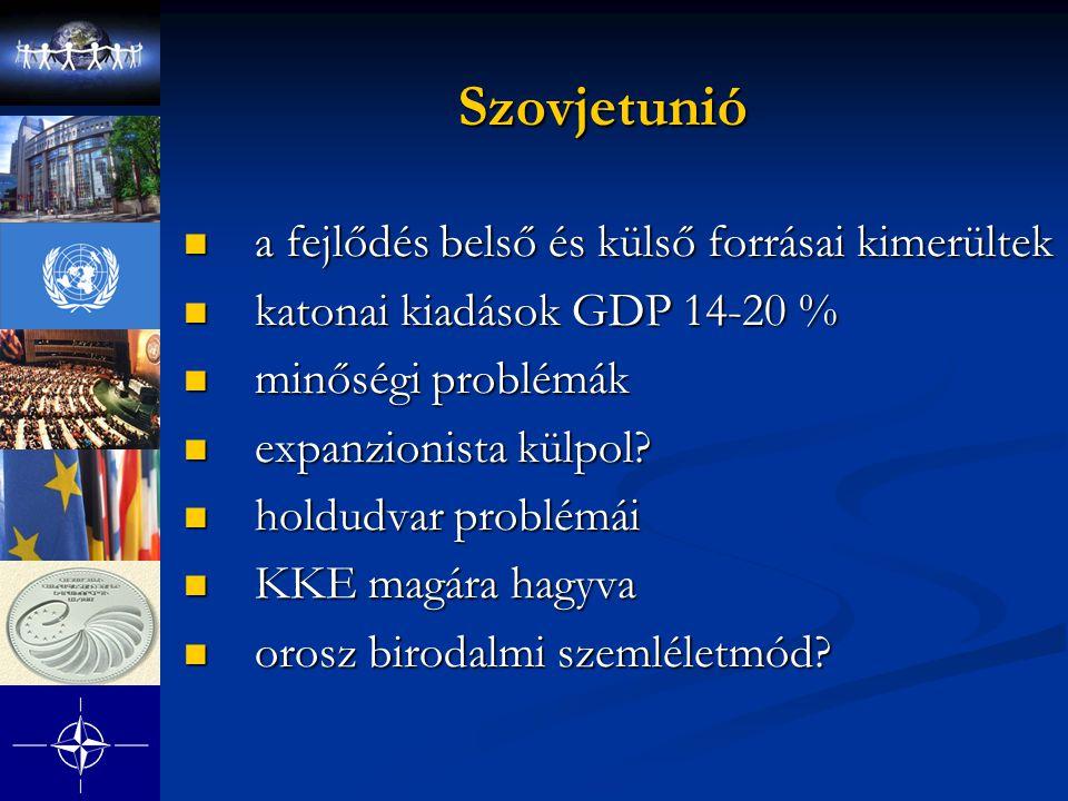 Szovjetunió a fejlődés belső és külső forrásai kimerültek