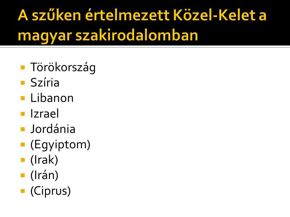 A szűken értelmezett Közel-Kelet a magyar szakirodalomban
