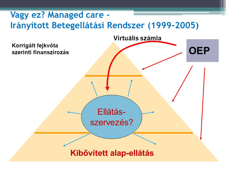 Vagy ez Managed care - Irányított Betegellátási Rendszer (1999-2005)