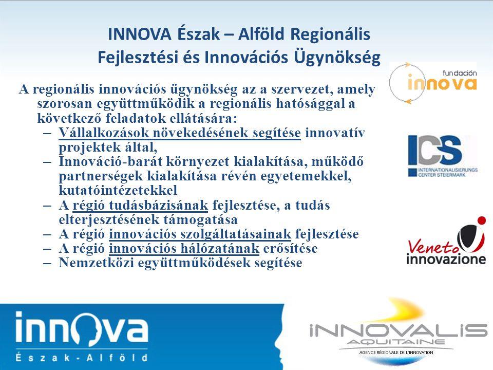 INNOVA Észak – Alföld Regionális Fejlesztési és Innovációs Ügynökség