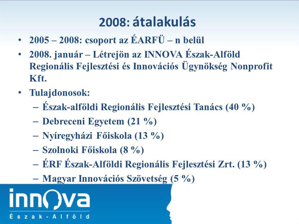 2008: átalakulás 2005 – 2008: csoport az ÉARFÜ – n belül