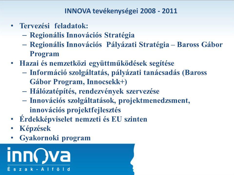 INNOVA tevékenységei 2008 - 2011