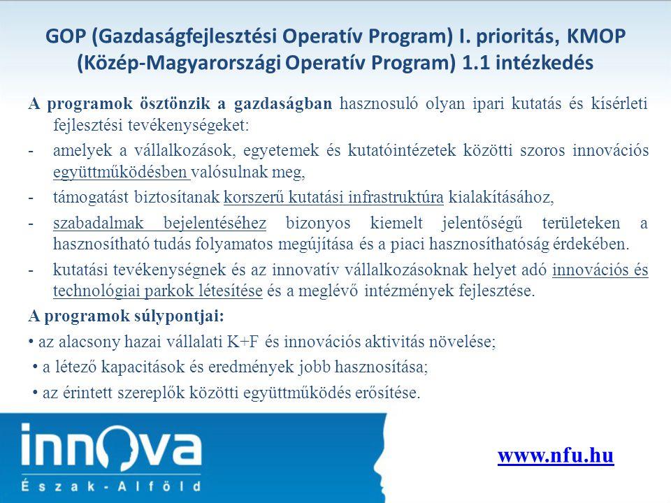 GOP (Gazdaságfejlesztési Operatív Program) I