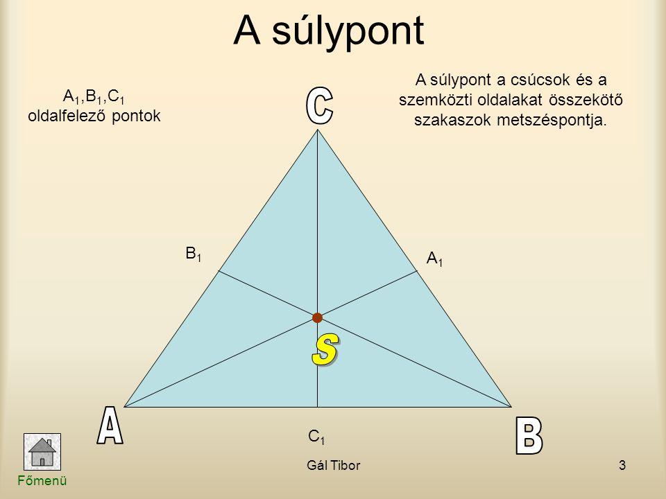 A1,B1,C1 oldalfelező pontok