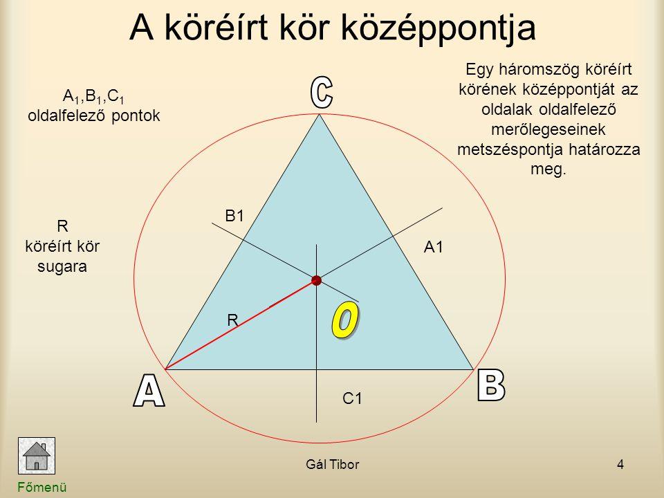 A köréírt kör középpontja